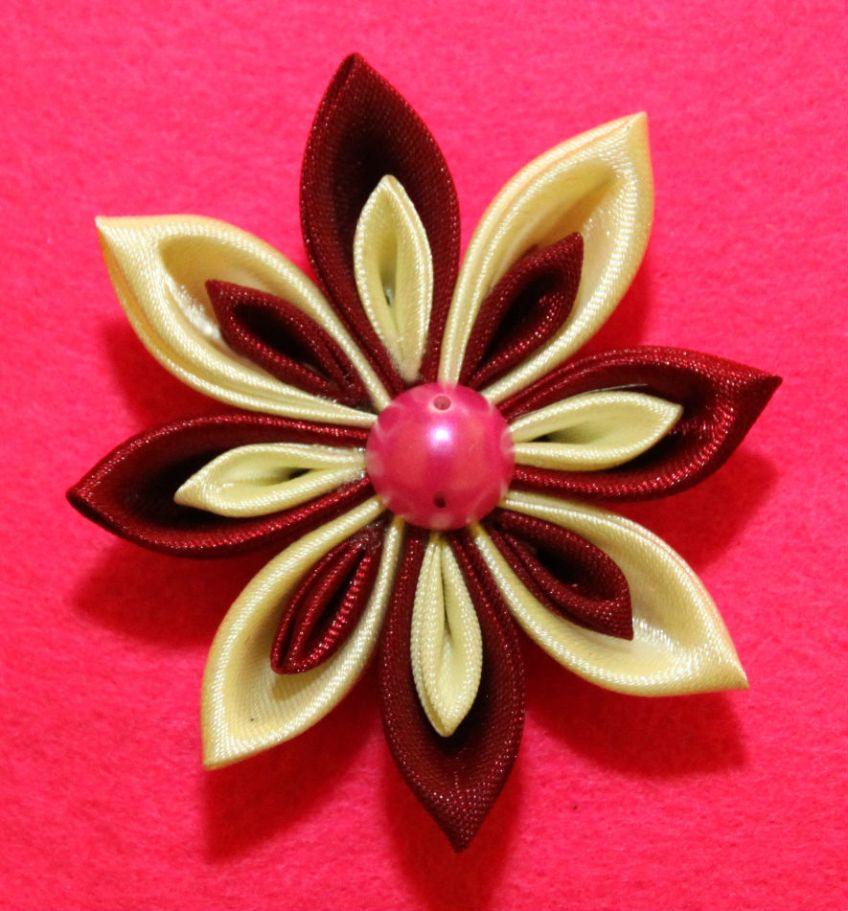 aksesoris anak dan wanita bros pin bando bandana bunga kanzashi